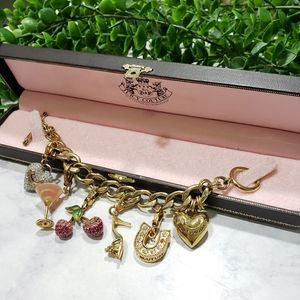 Juicy Couture Gold Custom Loaded Charm Bracelet